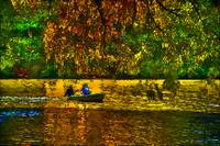 Autumn Rowing within the Lake at Central Park