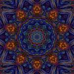 """""""Abstract Blue Gold Tile 4"""" by bloomingvinedesign"""