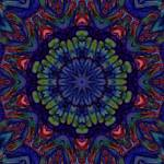 """""""Blue Green Organic Abstract Tile 5"""" by bloomingvinedesign"""