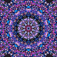Purple Psychedelic Floral Abstract Tile 9