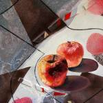 """""""red apples and a flat vase,mm,50x60cm,2006"""" by Evgueniamen"""