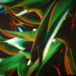 """Green & Red Leaves Abstract #2"" by budo"