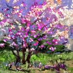 """Tulip Magnolia Modern Impressionist Art by Ginette"" by GinetteCallaway"