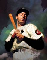 Joe DiMaggio, New York Yankees, By E. L. Vela