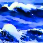 """Ocean Wave Abstract"" by waynelogan"