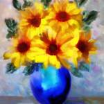 """A vase of Sunflowers"" by valzart"