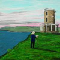 Painting the Clavell Tower Art Prints & Posters by robert harris