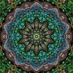 """""""Green Peacock Tile 16 Framed"""" by bloomingvinedesign"""