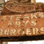 """Steaks Frys Burgers"" by TheCalhounPictureShow"