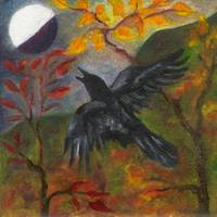 Autumn Moon Raven