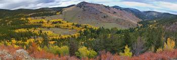 Colorado Peak to Peak Highway Autumn View