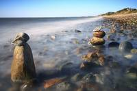 Pile Of Stones On Ryder Beach Truro MA