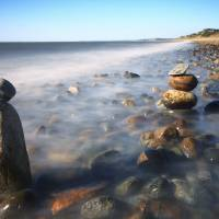 """Pile Of Stones On Ryder Beach Truro MA"" by Dapixara Art"