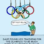 """Training for the Games"" by gymnasticscartoons"