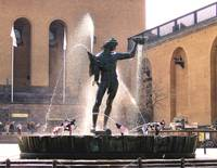 Poseidon Fountain in Gothenburg, Sweden