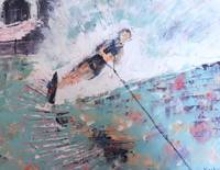 Water Skier - original painting 16