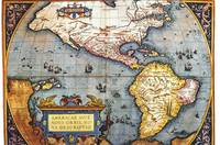 WORLD MAP CIRCA 1700'S ANCIENT MAP OF THE WORLD