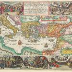 """Antique_Map_Plancius_Middle_East"" by imageworks"