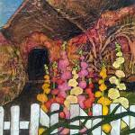 """""""Hollyhock Cottage"""" by lynnefrenchdesigns"""