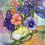 """Iris & Pansies"" by lynnefrenchdesigns"