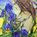 """""""Armloads of Irises"""" by lynnefrenchdesigns"""