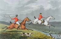 Fox Hunting: Full Cry, 1828 (hand-coloured aquatin