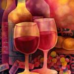 """Wine for Two"" by HaileyWatermedia"
