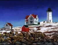 Nubble Light Winter