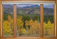 Rocky Mountain Autumn Picture Window View