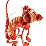 """Red Cat"" by I_va"