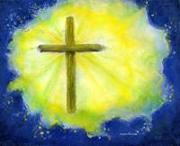 Cross in Brilliant Yellow and Blue
