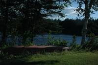 Canoe and lake in Maine