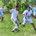 """Kicking Soccer Ball"" by susansartgallery"