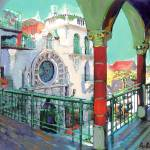 """Chapel Courtyard Mission Inn Riverside CA"" by BeaconArtWorksCorporation"