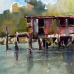 """Old Fishing Dock on Lopez Island, WA"" by KATEBARBER"