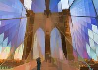 Brooklyn Bridge Arch Abstract