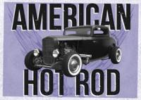 American Hot-Rod. Blue background