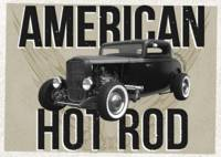 American Hot-Rod. Brown background