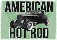American Hot-Rod. Green background