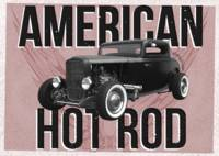 American Hot-Rod. Red background