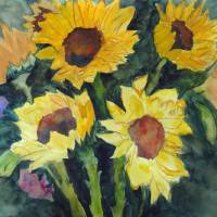 Sunflower Series #1 Art Prints & Posters by Peggy Steffens