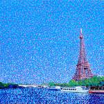 """Eiffel Tower and the Seine River Landscape"" by 1004art"