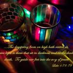 """Candles With Luke 1:78-79"" by PjCreates"