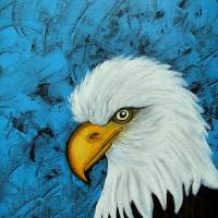 Sacred Bald Eagle Art Prints & Posters by Claudia Tuli