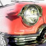 """Unfinished Pink Cadillac 1093"" by ROUTE329ART"