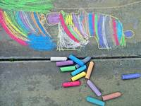 Autism Creates:  Chalk Art