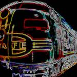 """Night Train"" by ROUTE329ART"