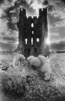 Helmsley Castle, Yorkshire (b/w photo)