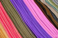 Rows of Colored Scarves