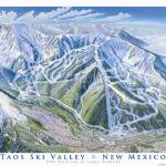"""Taos Ski Resort"" by jamesniehuesmaps"